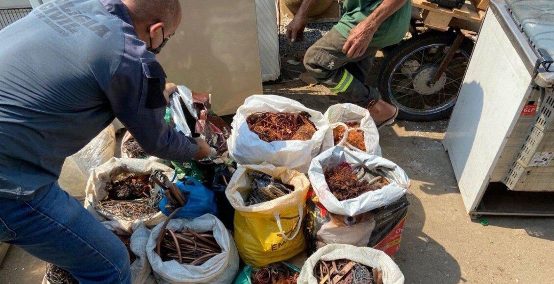 ferros-velhos são alvo de ação contra a venda de material furtado