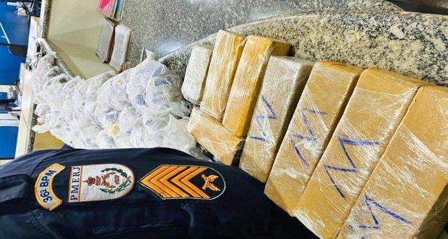 Polícia Militar apreende grande quantidade de drogas em Miracema