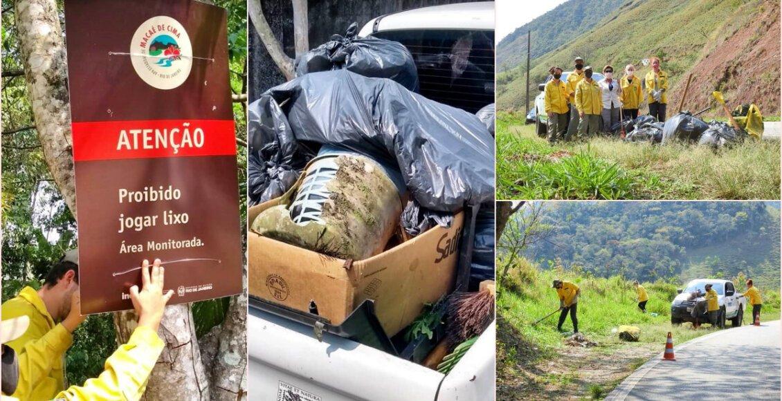 Mutirão recolhe lixo na Serramar, em Nova Friburgo e Casimiro de Abreu