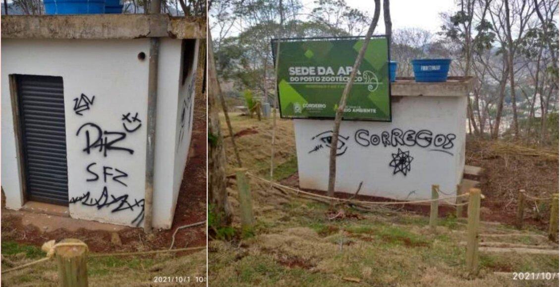 Cordeiro: Sede da APA do Posto, no Cruzeiro da Paz, é alvo de pichações