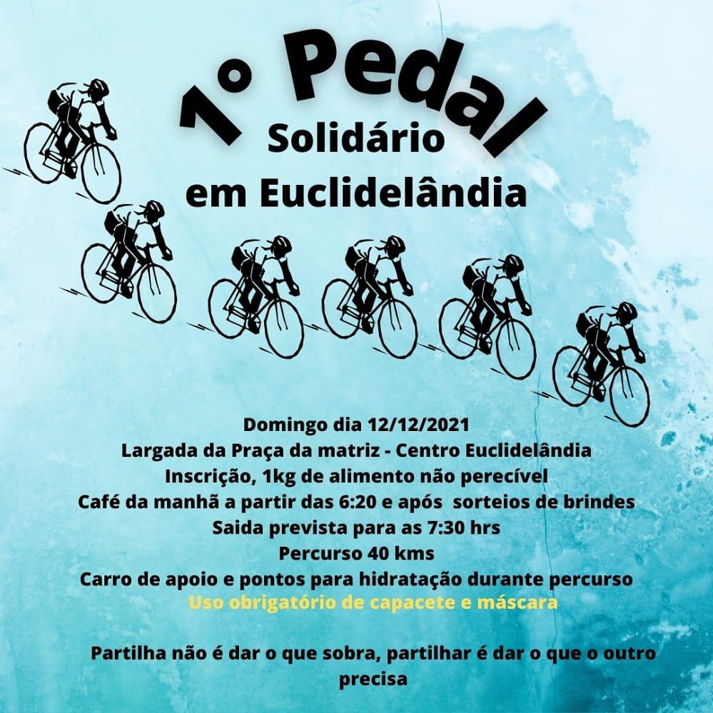 Pedal Solidário em Euclidelândia vai arrecadar alimentos para o Natal