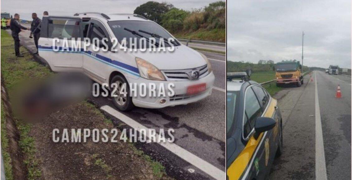 Taxista encontrado degolado ao lado do carro na BR 101, em Quissamã